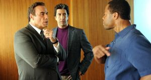 Staunch defence: John Travolta, David Schwimmer and Cuba Gooding Jr in the opening episode of The People v OJ Simpson: American Crime Story. Photograph: FX