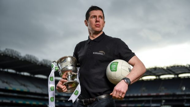 Irish backstop - Seán Cavanagh at the launch of the 2016 EirGrid All-Ireland Under-21 Football Championship at Croke Park. Photograph: Stephen McCarthy/Sportsfile