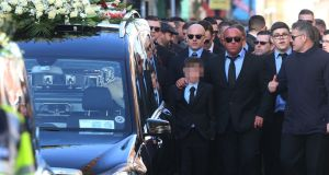 The funeral of David Byrne (33), from Crumlin, taking place in Dublin last Monday