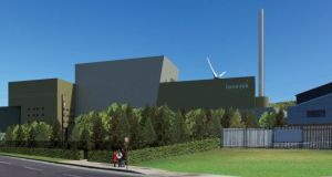 An artist's impression of the proposed waste-to-energy facility