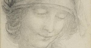A  study for the head of St Anne (circa 1510-15)f rom the exhibition Leonardo da Vinci: Ten Drawings from the Royal Collection at National Gallery of Ireland