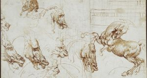 Expressions of fury in horses, lions and a man by Leonardo Da Vinci