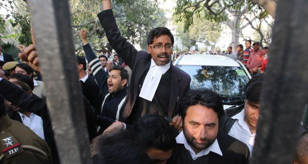 Indian Lawyer In Court...