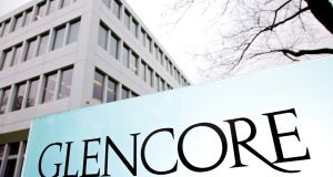 "Ratings agency Moody's Investors Service downgraded Glencore's credit rating to one notch above ""junk"" in December"