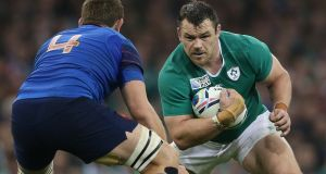 Ireland's Cian Healy in Group D action against France at the Millennium Stadium, Cardiff, during last year's World Cup. Photograph: Billy Stickland/Inpho.