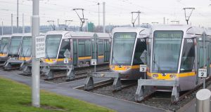 The  Luas Red Cow Depot  in Clondalkin, Dublin. Photograph: Gareth Chaney/Collins
