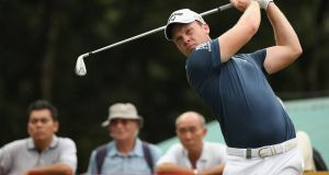 Danny Willett produced a brilliant run on the back nine to sit a shot off the lead at the Maybank Championship in Kuala Lumpur. Photograph: Getty