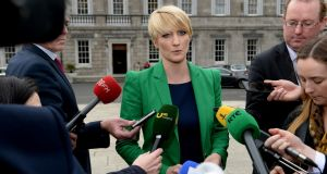 Senator Averil Power favours strong colours on the plinth. Photograph: Cyril Byrne