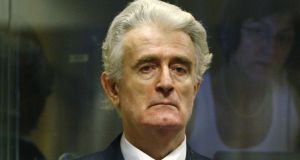 "Former Bosnian Serb leader Radovan Karadzic denies the charges and told judges ""The war did not happen as I wanted it."". Photograph: Jerry Lampen/Reuters"