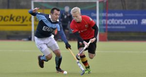 Lisnagarvey put four past Ulster rivals Banbridge in the EY Hockey League last weekend. Photograph: Rowland White/Inpho.