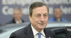 European Central Bank president Mario Draghi:  won wide support for further policy action next month, according to minutes of the bank's January policy meeting. Photograph:  Thierry Charlier/AFP/Getty Images