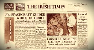 The front page of The Irish Times on Wednesday, March 24th, 1965. Photograph: The Irish Times