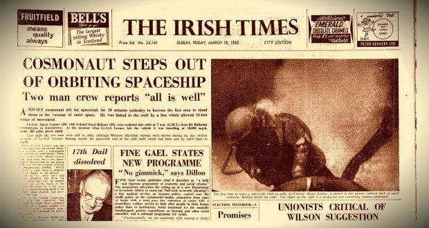 An irishmans diary from 1965 fine gaels blueprint for ireland the front page of the irish times on friday march 19th 1965 photograph malvernweather Images