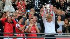 Arsene Wenger has revealed he may have ended his Arsenal tenure had his side had failed to beat Hull in the 2014 FA Cup final. Photograph: Nick Potts/PA