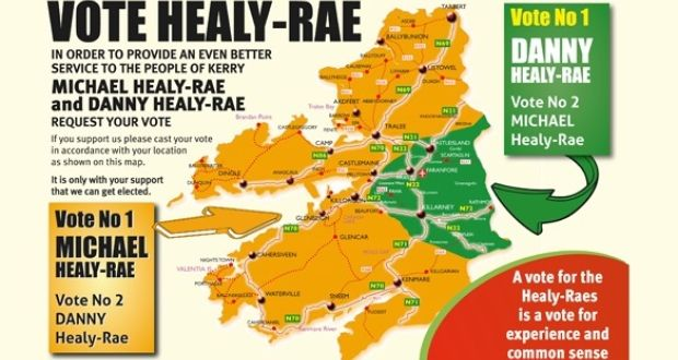 Map Of Ireland Please.Healy Rae Brothers Issue Map Carving Up Kerry Constituency