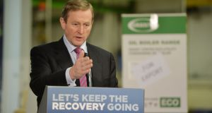 "Taoiseach Enda Kenny: ""You would have thought that the political and economic cycles could not have coincided so nicely for Enda Kenny's Government."" Photograph: Alan Betson/The Irish Times"