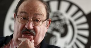 Italian writer Umberto Eco: poses during the presentation of his novel The Cemetery of Prague in Madrid, in this December 13th, 2010 image. Photograph: Reuters