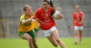 Armagh's Aimee Mackin: teenage forward responded with a goal in first half Photograph: Morgan Treacy/Inpho.