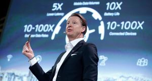 "Ericsson's President and chief executive Hans Vestberg: ""We believe in 2021 there will 150 million subscribers for 5G."""