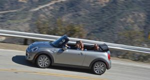 Mini Convertible: its roof can be raised or lowered in a claimed 18 seconds