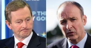 Micheál Martin's equal standing with the Taoiseach is a reflection of his success in the election campaign to date, and particularly his performance in the television debates. Photograph: AFP/The Irish Times