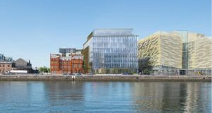 The site at Spencer Dock will have a 169-bed hotel and two office buildings