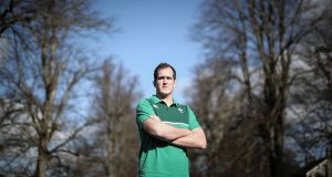 Ireland secondrow Devin Toner pictured at  Carton House on Tuesday. Photograph: Dan Sheridan/Inpho