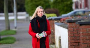 Fianna Fail general election candidate Lorraine Clifford-Lee said she was 'shaking like a leaf' after the incident.Photograph: Dara Mac Dónaill / The Irish Times