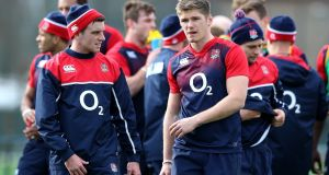 England's 10-12 axis of George Ford and Owen Farrell will not win too many collisions, so they are tasked with creating space. Photograph: David Rogers/Getty Images.