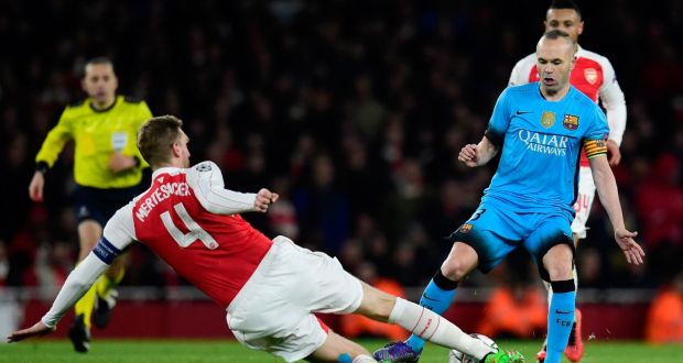 Per Mertesacker Has Blamed Arsenals Profligacy In Attack For Their 2 0 Loss To Barcelona