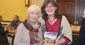 Writer and actor Eilish O'Carroll at the launch of Caherlistrane with author Mary J Murphy. Photograph: Minette Glynn