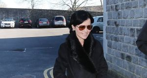 Cranberries singer Dolores O'Riordan arrives at Ennis District Court where she is to  be sentenced for head-butting and spitting on a police officer following an alleged air rage incident on a flight from New York. Photograph: Niall Carson/PA Wire.