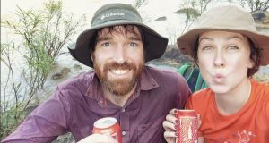 Gillian Ackland and her partner Donal on day 155 of their trip in Vietnam