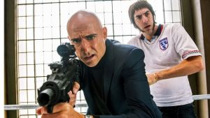 North and south: Mark Strong and Sacha Baron Cohen in Grimsby