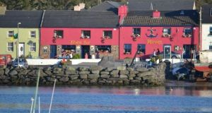 The Bridge Bar at the moorings,  Portmagee, Co Kerry: the jumping off point for the Skelligs
