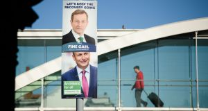 Political campaign posters on the  streets of Dublin. / AFP / LEON NEALLEON NEAL/AFP/Getty Images