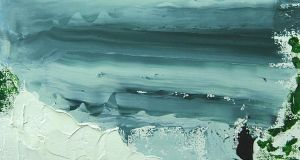 Detail from White Sea, Black Sod by Eddie Kennedy