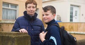 Seven years ago Eithne Cleary put her son Michael's  name down for the local secondary school. He is still on a waiting list for a place. Photograph: Patrick Browne
