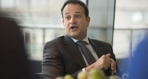 "Minister for Health Leo Varadkar:  ""This will create more opportunities for young doctors to stay in Ireland and will also allow us to add to the number of GPs in the country.""  Photograph: Dara Mac Dónaill/The Irish Times"