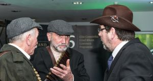 Members of the Fingal Old IRA Commemorative Society re-enacting the Battle of Ashbourne at the launch of the Fingal 2016 Centenary Programme in Swords County Hall last month