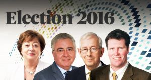 From L-R: Catherine Murphy (Social Democrats); Bernard Durkan (Fine Gael); Emmett Stagg (Labour); Anthony Lawlor (Fine Gael)