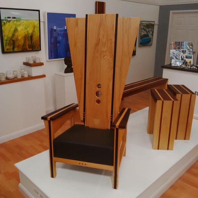 High Quality The Guinevere Throne Chair Is Made To Order From Jon Newton Furniture Using  Ash Inlaid With
