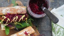 Give Me Five: Sausage and sauerkraut baguette