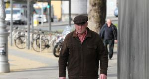 Thomas 'Slab' Murphy (66) of Ballybinaby, Hackballscross, Co Louth arriving for his sentencing hearing at the Special Criminal Court in Dublin. Photograph: Collins Courts