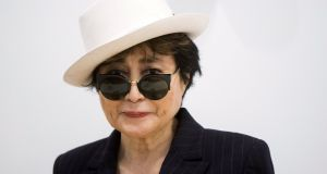 Yoko Ono, the widow of the late former Beatle John Lennon, has been admitted to a New York-area hospital after complaining of severe flu-like symptoms. Photograph: Lucas Jackson/Reuters