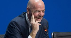 Gianni Infantino of Switzerland, new FIFA President, during a press conference after being elected as new FIFA President at the Extraordinary FIFA Congress in Zurich, Switzerland. Photo: PA