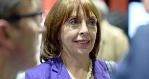 Róisín Shortall, Social Democrats, at the election count in the RDS. Photograph: Eric Luke.