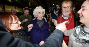Independent TD Maureen O'Sullivan survived the 11th count  to retain her seat. Photograph: Eric Luke