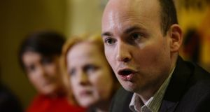 Paul Murphy speaking at a press conference. Photograph: Alan Betson