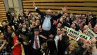 Independent TD Danny Healy-Rae celebrates on the shoulders of supporters including his  brother Michael who was re-elected earlier. Photograph: Domnick Walsh/Eye Focus